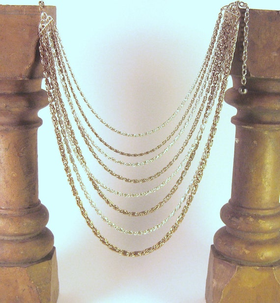 Necklace Gold & Silver Layered Strands