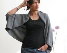 Beautifully draped 4ply cashmere shrug/wrap