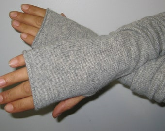 100% Scottish/UK spun cashmere arm warmers