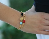 Turkish style thin gold bangle set