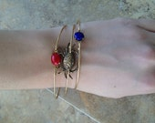 Realistic Crab thin gold bangle set