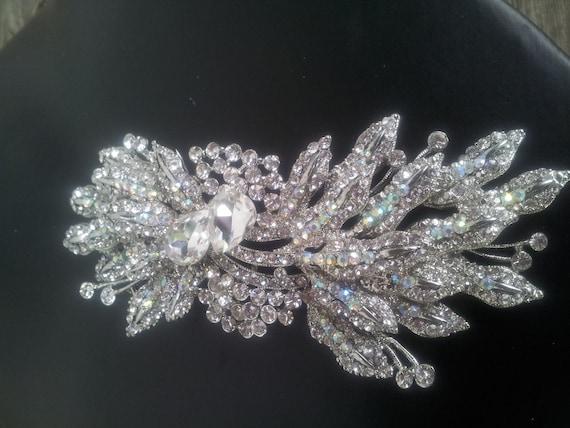 Alinna Swarovski crystal bridal hair comb or barrette