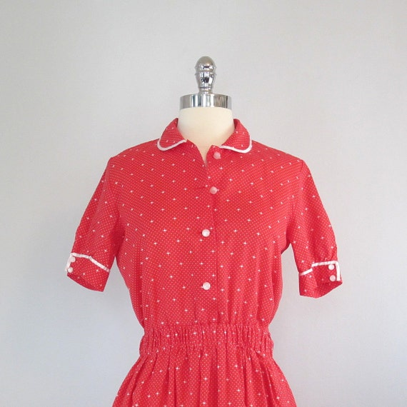 RESERVED red hearts dress / vintage dress / 1960s / queen of hearts