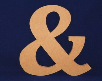 "8"" Wooden Ampersand...Great for Wall hanging, Engagement pictures, DIY and more"