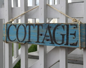 Custom Cottage Sign made from Reclaimed Wood