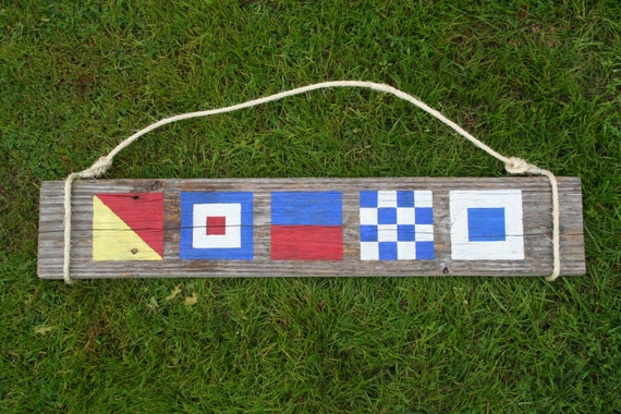 Custom Nautical Flag Sign- Name with 3 letters