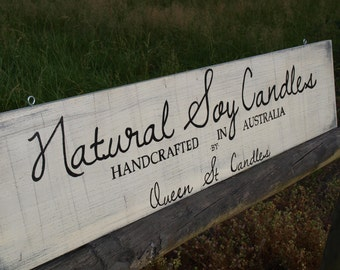 Personalized outdoor business/store/shop sign. Handpainted Oak.
