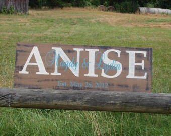 Personalized family name established sign