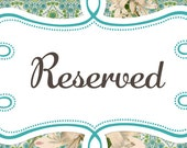 Reserved For Annie