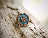 Polymer Clay Hippie Bohemian Vintage Ring