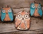 Polymer Clay Owl Pendants
