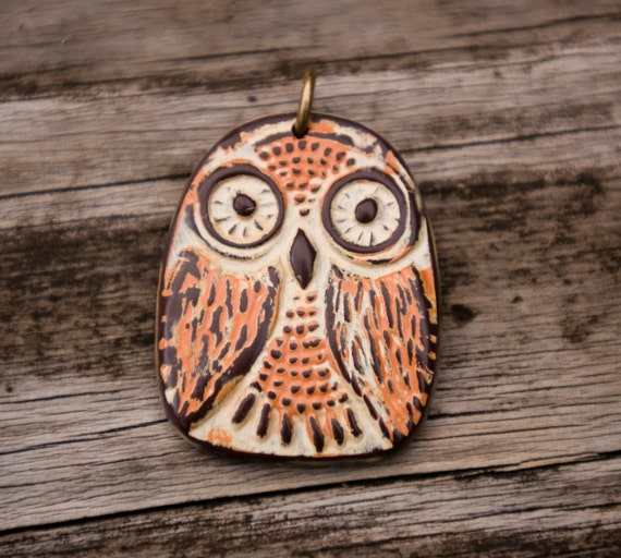Polymer Clay Owl Pendants