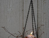 10 Natural Candle Sconce Hanging Planter Decorative wreath Magic Garden light Rustic Wedding light