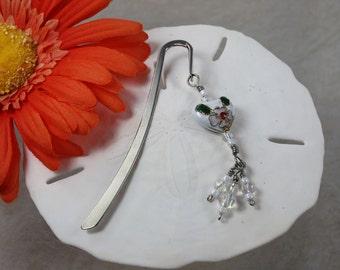 SALE Bookmark Heart, Crystal Bookmark