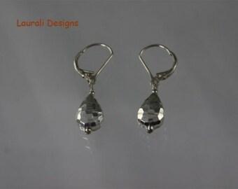 SALE Sterling Silver Teardrop Earrings, Simple Earrings