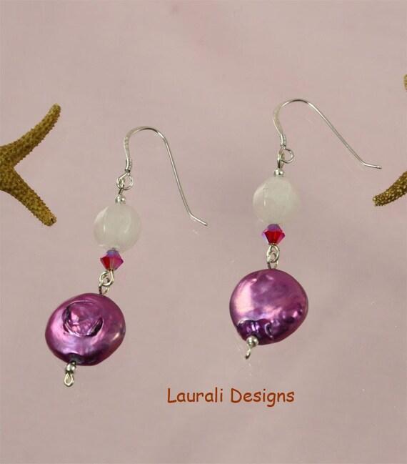 SALE Purple Pink Earrings Delight