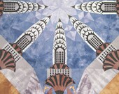 Art Quilt - Chrysler Building - Vertical Impact - Finalist in Museum of American Folk Art Contest