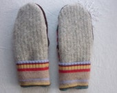 "Women's Felted Wool Mittens made from Wool Sweaters -  ""Kim"""