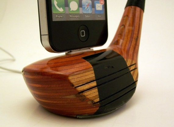 Vintage Wooden Golf Club iPhone Dock -ICN406