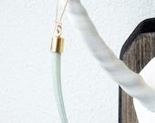 sea green tusk shell earrings