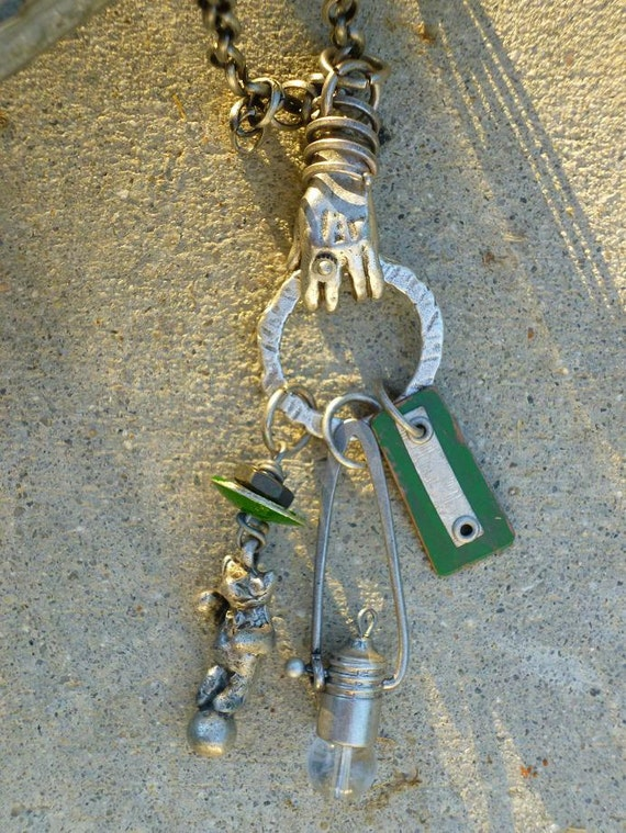 The Hand of Industry  CHARM NECKLACE