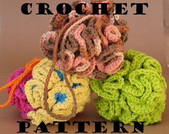 Crochet Pattern PDF Cotton Bath / Shower Puff , Home Decoration, Super Easy, Great for Beginners, Pattern No. 2