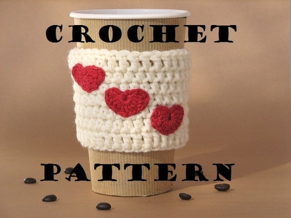 Crochet Pattern PDF, Coffee Cozy ,Coffee Sleeve, Tea Cozy, Cup Warmer, Crochet Cozy, Easy, Great for Beginners,Pattern No. 14