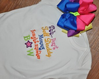 Custom Onesie or tee mommy bought another bow nb-24m and 2t-7/8