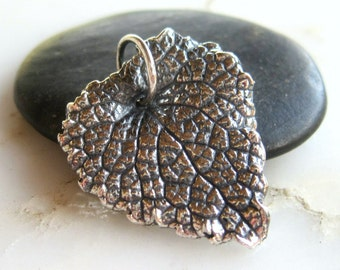 Sterling Nettle Leaf  Pendant - Qty 1 - Sterling Leaf Pendant
