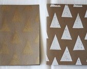SALE. holiday triangle blank notecard set. copper.