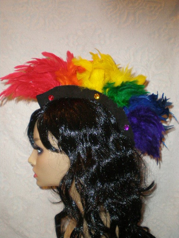 40% OFF Spring Cleaning SALE - Feather Mohawk: Mini Rainbow Sprite