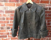 Vintage Leather Rustic Romance, tobacco brown jacket, Ladies size Small