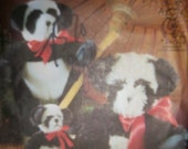 """Vintage Panda Bears McCall's 7883 Pattern Out of Print 7"""" 10""""  16"""" new Factory Fold"""