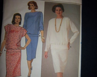 Vintage 1984 Butterick 3516 Mother of the Bride  2 Piece New Factory Fold Sz 8
