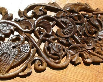 Woodcarving-The shelted nest-handmade, OOAK