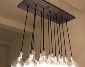 Urban Chic Chandelier with reclaimed wood Now In Stock