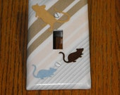 tan & blue Rat Switch plate