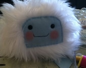 Rosy Cheeked Faux Fur Snow Yeti