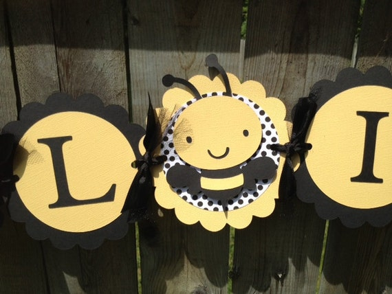 Bumble Bee Gender Reveal What Will It Banner Baby Shower