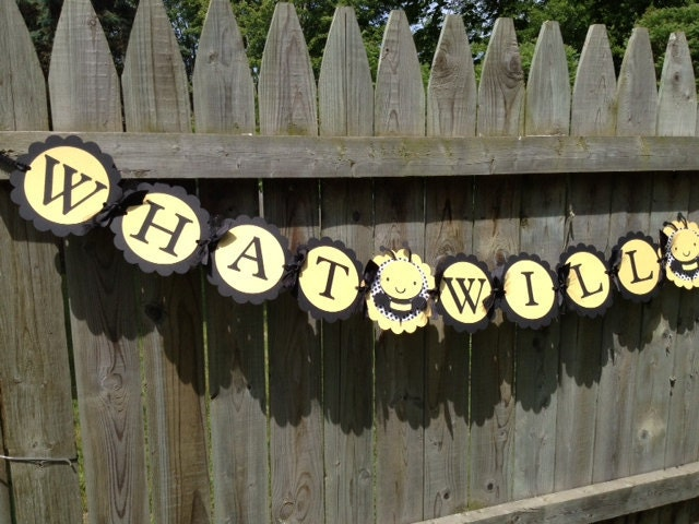 Bumble Bee Gender Reveal What Will It Banner Baby