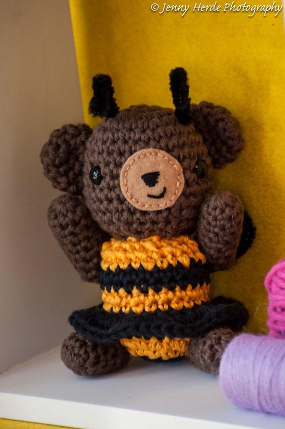 Honey Bee Teddy Bear Amigurumi - Stuffed Crochet Toy