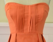 "The ""Jenny"" Party/ Cocktail Dress in Orange DREAM"