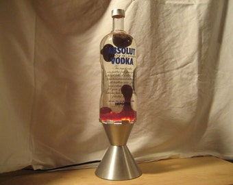 Lava Lamp Light 1.75 Liter Grande Absolut Vodka