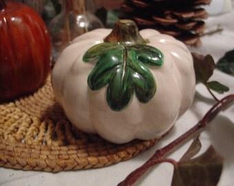 Pumpkin / Gourd - Cement Statue Figurine - Indoor Outdoor Decoration - Garden, Table, Party