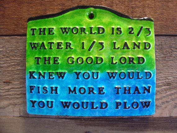 Fishing Plaque