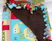 Dinosaur Love. Fleece Blanket