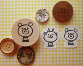 Bear Rubber Stamp Hand Carved