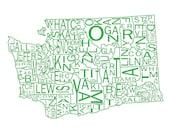 "Washington State 11""x14"""
