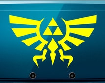Vinyl Decal - Zelda Triforce Inspired Decal for Nintendo 3DS, macbook, etc...