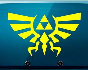 Vinyl Decal - Zelda Triforce Inspired Decal for Nintendo 3DS, macbook, etc...